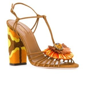 NEW Aquazzura Samba 105 T-Strap Sandals